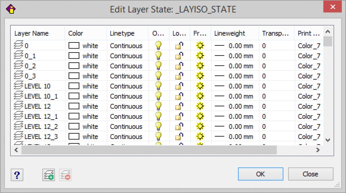 IntelliCAD Explorer Advanced Layer Tools