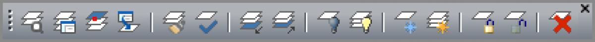 IntelliCAD Layer toolbar